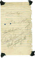Autographs:Others, Vintage Baseball Stars Signed Sheets Lot of 3. What we see here isa trio of signed sheets from baseball stars from the 194...