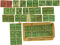 Autographs:Others, Early Baseball Stars Signed Postage Stamps Lot of 16. Severalvintage stars are the subject of this lots, with 16 pieces of...