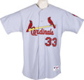 Baseball Collectibles:Uniforms, 2005 Larry Walker Game Worn Jersey. Road grey St. Louis Cardinals jersey was used by this expert batsman during his final y...