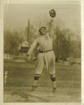 Baseball Collectibles:Photos, 1917 Jimmy Hickman Service Photograph. Wonderful action shot that we present here portrays the Brooklyn Robins outfield com...