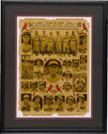 Baseball Collectibles:Others, 1931 St. Louis Cardinals Framed Newspaper Page. Fantastic displaypiece pictures all members of the Championship squad, inc...