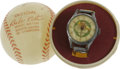 Baseball Collectibles:Others, Babe Ruth Wristwatch. Among Babe Ruth's innumerable endorsementsthere appeared this attractively designed timepiece. Like...