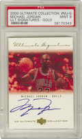 Basketball Collectibles:Others, 2000-01 Upper Deck Signed Michael Jordan Ultimate Signatures #MJ-G(17/25), PSA Mint 9. From the 2000 Upper Deck Ultimate S...