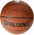 Basketball Collectibles:Balls, Kobe Bryant Single Signed Basketball. Love him or hate him, youcan't deny that this Los Angeles Laker is one of the most a...