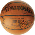 Basketball Collectibles:Balls, 1998-99 Orlando Magic Team Signed Basketball. Despite finishingfirst in their division for the strike-shortened 19998-99 s...