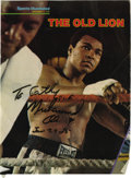 Boxing Collectibles:Autographs, Muhammad Ali Signed Magazine Cover. The stone-faced warriorMuhammad Ali appears here on this 1978 Sports Illustratedc...
