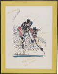 Football Collectibles:Others, Football Stars Signed LeRoy Nieman Print. Fantastic print we offer here comes from the art of the talented LeRoy Nieman, on...