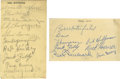 Football Collectibles:Others, Vintage Football Stars Signed Cuts/Index Cards Lot of 12. Collected on twelve cuts and index cards we offer this tremendous...