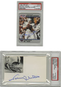 Football Collectibles:Others, Johnny Unitas Signed Trading Card & Index Card. A pair of Mint autographs from the Football Hall of Famer appear on a 1990 ...