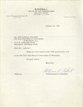 Autographs:Letters, 1968 Rare William Eckert Signed Letter. What we offer here is thetough signature of William D. Eckert, who served as the C...