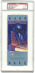 Football Collectibles:Tickets, 1983 Super Bowl XVII Football Full Ticket PSA NM-MT 8. Offered is a PSA-graded full ticket from the 1983 Super Bowl played a...