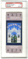 Football Collectibles:Tickets, 1988 Super Bowl XXII Football Full Ticket PSA NM-MT 8. Offered is a PSA-graded full ticket from the 1988 Super Bowl played a...