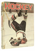"Hockey Collectibles:Others, Massive Collection of Hockey Signatures on ""Hockey"" Book. This oversized hardcover book entitled Hockey contains myriad..."