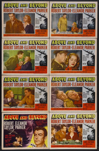 """Above and Beyond (MGM, 1952). Lobby Card Set of 8 (11"""" X 14""""). Biographical Drama. Starring Robert Taylor, Ele..."""