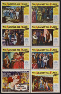 "Movie Posters:Swashbuckler, Against All Flags (Universal, 1952). Lobby Card Set of 8 (11"" X 14""). Action Adventure. Starring Errol Flynn, Maureen O'Hara... (Total: 8 Items)"