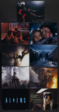 "Movie Posters:Science Fiction, Aliens (20th Century Fox, 1986). Deluxe Lobby Card Set of 9 (11"" X14""). Sci-Fi Thriller. Starring Sigourney Weaver, Carrie ...(Total: 9 Items)"