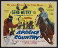 "Movie Posters:Western, Apache Country (Columbia, 1952). Half Sheet (22"" X 28""). Western.Starring Gene Autry, Champion, Carolina Cotton, Harry Laut..."
