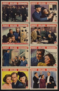 "Arrest Bulldog Drummond (Paramount, 1939). Lobby Card Set of 8 (11"" X 14""). This was the last of the Paramount..."