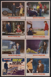 """Bad Day at Black Rock (MGM, 1955). Lobby Card Set of 8 (11"""" X 14""""). Thriller. Starring Spencer Tracy, Robert R..."""
