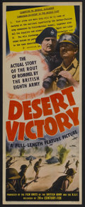 "Movie Posters:Documentary, Desert Victory (20th Century Fox, 1943). Insert (14"" X 36""). War Documentary. Directed by Roy Boulting and David MacDonald. ..."
