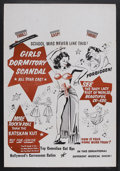 "Movie Posters:Bad Girl, Girls Dormitory Scandal (Roadshow Attractions, 1950). One Sheet(27"" X 41""). Bad Girl. Little is known about this exploitati..."