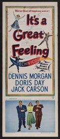 """Movie Posters:Comedy, It's a Great Feeling (Warner Brothers, 1949). Insert (14"""" X 36""""). Musical. Starring Doris Day, Dennis Morgan, Jack Carson, J..."""