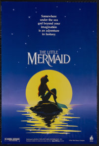 """The Little Mermaid (Buena Vista, 1989). Mini (17.5"""" X 26""""). Animated Musical Fantasy. Starring the voices of J..."""