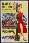 "Movie Posters:Crime, New Orleans Uncensored (Columbia, 1955). One Sheet (27"" X 41"").Crime Drama. Starring Arthur Franz, Beverly Garland and Hele..."