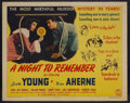 "Movie Posters:Mystery, A Night to Remember (Columbia, 1942). Half Sheet (22"" X 28"").Mystery. Starring Loretta Young, Brian Aherne, Jeff Donnell an..."