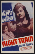 "Movie Posters:War, Night Train (20th Century Fox, 1940). One Sheet (27"" X 41"").Thriller. Starring Margaret Lockwood, Rex Harrison, Paul Henrei..."