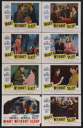 "Movie Posters:Mystery, Night Without Sleep (20th Century Fox, 1952). Lobby Card Set of 8(11"" X 14""). Mystery. Starring Linda Darnell, Gary Merrill...(Total: 8 Items)"
