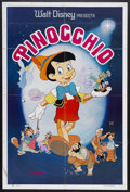"""Movie Posters:Animated, Pinocchio (Buena Vista, R-1970s). Spanish Language One Sheet (27"""" X 41""""). Animated. Starring the voices of Dick Jones and Cl..."""