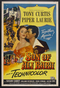 "Son of Ali Baba (Universal, 1952). One Sheet (27"" X 41""). Fantasy Adventure. Starring Tony Curtis, Piper Lauri..."