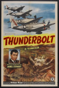 """Movie Posters:Documentary, Thunderbolt (War Activities Committee, 1947). One Sheet (27"""" X 41""""). Documentary. Narrated by James Stewart. Directed by Wil..."""