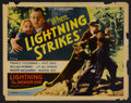 "Movie Posters:Adventure, When Lightning Strikes (William Steiner, 1934). Half Sheet (22"" X28""). Adventure. Starring Lightning the Wonder Dog, Franci..."
