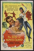 "Movie Posters:Adventure, The Wife of Monte Cristo (PRC, 1946). One Sheet (27"" X 41"").Adventure. Starring John Loder, Lenore Aubert, Colin Campbell, ..."