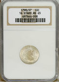 Early Dimes: , 1798/97 10C 16 Stars on Reverse MS65 NGC. NGC Census: (5/3). PCGSPopulation (1/0). Mintage: 27,550. Numismedia Wsl. Price:...