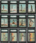 "Non-Sport Cards:Sets, 1911 T77 Hassan ""Lighthouses"" Complete Set (50)...."