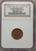 Medals And Tokens, 1861-65 Token Frank Beresford OH F-165P-1A MS64 BN NGC.(#661861)...