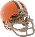 """Football Collectibles:Helmets, 1972 Rich """"Tombstone"""" Jackson Game Worn Cleveland Browns Helmet...."""