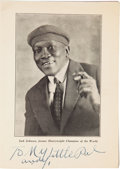 "Boxing Collectibles:Memorabilia, Early 1930's ""Jack Johnson The Man"" Multi-Signed Booklet...."