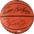 Basketball Collectibles:Balls, 1990's Legendary Players Multi Signed Basketball....