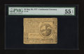 Colonial Notes:Continental Congress Issues, Continental Currency May 20, 1777 $2 PMG About Uncirculated 55 EPQ.. ...