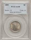 Liberty Nickels: , 1895 5C AU58 PCGS. PCGS Population (25/314). NGC Census: (6/278).Mintage: 9,979,884. Numismedia Wsl. Price for problem fre...
