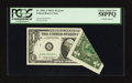 Error Notes:Foldovers, Fr. 1901-A $1 1963A Federal Reserve Note. PCGS Choice About New58PPQ.. ...