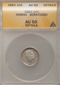 Coins of Hawaii: , 1883 10C Hawaii Ten Cents--Scratched--ANACS. AU50 Details. NGCCensus: (14/194). PCGS Population (49/245). Mintage: 250,000...
