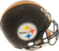 Football Collectibles:Uniforms, 1982 Terry Bradshaw Signed #36 Pittsburgh Steelers Game Worn Helmet....