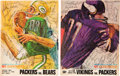 Football Collectibles:Publications, 1961-68 Green Bay Packers Team Signed Publications Lot of 4....