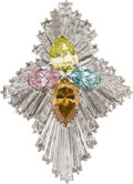 Estate Jewelry:Rings, Colored Diamond, Diamond, Platinum Ring, Linz. ...