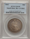 Seated Half Dollars, 1842 50C Reverse of 1842 Small Date, Large Letters XF45 PCGS. PCGSPopulation (8/48). NGC Census: (14/88). (#6240)...